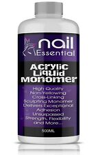 NAIL ACRYLIC LIQUID MONOMER 500ml false nails retention sculpting tips