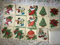 14 Vintage POLLYANNA Christmas HOLIDAY Greeting Card Unused GLITTER Envelopes