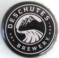 DESCHUTES BREWERY, WORTH SHARING used Black Beer CROWN, Bottle CAP, Bend, OREGON