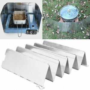 10 Plates Foldable Camping Stove Windshield Cooker Gas Stove Screen Outdoor