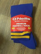 O'Neills Premium Football Socks BLUE/AMBER