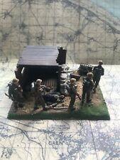 1/35 Segunda Guerra Mundial viñeta. Tamiya británico y Italeri puesto de mando Construido y pintado