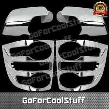 For 07-09 Ford Explorer Full Mirror+Tail Light Bezel Chrome Abs Cover