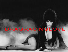 "Cassandra Peterson ""Elvira"" ""Mistress of the Dark"" HOT ""Pin-Up"" PHOTO! #16b BW"