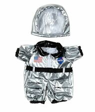 "Teddy Bear Silver NASA ASTRONAUT Costume CLOTHES Fit 14-18"" Build-a-bear !!NEW!!"