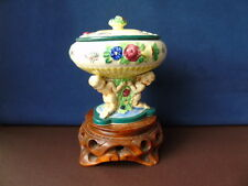 1920/30's Japanese Footed Bowl With Lid - Putti & Flowers Deco by Maruhon Ware