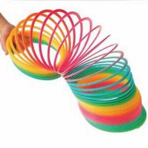 "9.5"" Jumbo Rainbow Coil Spring Fun Play Big Toy"