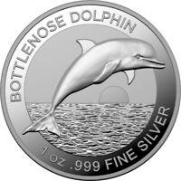 2019 Bottlenose Dolphin 1oz High Relief Silver Proof Coin