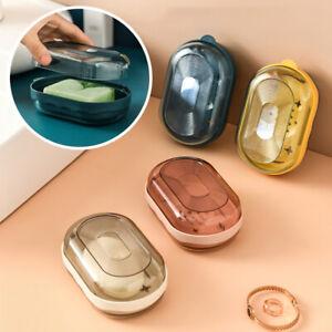 Portable Soap Dish Split Drain Holder Container Bathroom Plate Box Home Shower