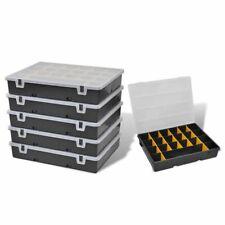 vidaXL 6x Tool Storage Box Plastic Garage Workshop Sort Case Cabinet Organiser