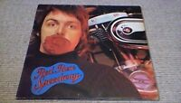 PAUL McCARTNEY & WINGS RED ROSE SPEEDWAY 1st UK EMI LP 1980 w/ BOOK The Beatles