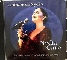 NYDIA CARO - LAS NOCHES DE NYDIA / BOHEMIA PUERTORRIQUENA GRABADA EN VIVO CD