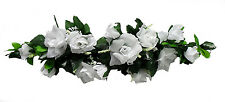 WHITE SWAG ~ Roses Silk Wedding Flowers ~ Party Centerpieces Arch Decorations
