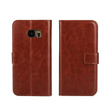 For Samsung Galaxy Holster Flip Stand Wallet Crazy Horse PU Leather Case Cover