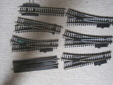 Hornby OO Gauge track 6 x points + crossover1 straight,