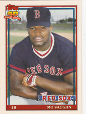 Mo Vaughn Red Sox 1991 Topps Traded Rookie Card RC