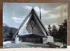 Chiesa Nostra Signora del Cadore - villaggio sociale ENI [grande, b/n, viagg.]