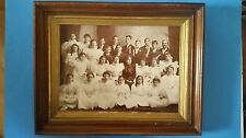 Vintage Photo and Antique Frame Of Graduation Late 1800's - 1920's