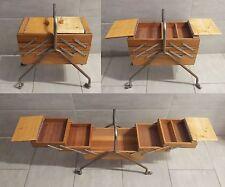 Porta oggetti portaoggetti scatola da cucito maglieria fisarmonica vintage