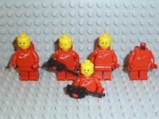LEGO® Space Classic 5x Figur Astronaut rot mit Airtank 1968 918 6930 6929 F1745
