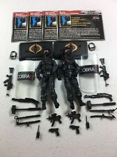GI Joe Cobra 50th Anniversary Figure Lot TRU Cobra Shock Trooper x2 Army Builder