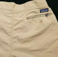 Vintage 99' Patagonia Tan Nylon Light Weight Hiking Pants Size 33 x 29 Men's
