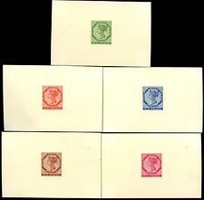 CANADA QV PRINCE EDWARD ISLAND 6d DIE PROOFS on CARD in 5 COLOURS