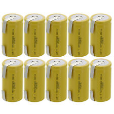 10x Exell D Size 1.2V 5000mAh NiCD Rechargeable Batteries with Tabs  USA SHIP