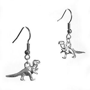 Dinosaur Charm Round Cute Earring Jewellery