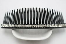 Black Clear Crystal Rhinestone Plastic Large Hair Clips Side Combs Pin 125mm