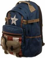Marvel Avengers Captain America Stars and Straps Laptop Backpack - UK Seller