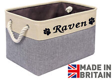 More details for personalised toy box/toybox/basket/storage box for dog, cat or pet. made in uk