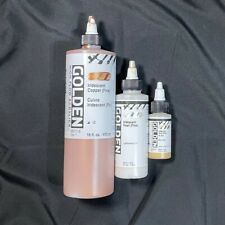Golden High Flow Paint - Iridescent - Copper 16 oz, Pearl 4 oz and Gold 1 oz
