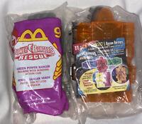 McDonald's Power Rangers Rescue Green #9 & Orange #11 Happy Meal Toy 2000 NEW