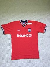 """NEW UMBRO ENGLAND ST. GEORGE COTTON T-SHIRT RED - SIZE LARGE (41/43"""", 104/109CM)"""