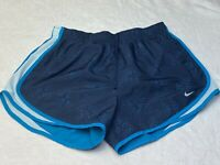 NIKE~Lined Athletic Women's Shorts Running Sz L~semi fitted multi color blue
