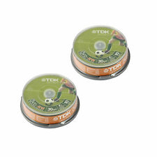 20 TDK MINI DVD-RW 8CM 30MIN For Camcorders (2x10 spindle) T19488