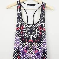 SPORTSGIRL | Womens Racer Back Print Maxi Dress  [ Size  L or AU 14 ]