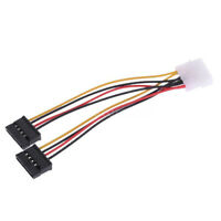 4 Pin IDE Molex Male to Dual SATA Y-Splitter Female HDD Power Adapter Cable Set