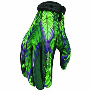 NEW Icon Hooligan Rite Mind Textile Motorcycle Riding Street Racing Gloves