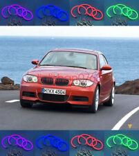 4x Cotton RGB LED Angel Eyes Halo Rings DRL For BMW E87 E88 (1 Series) 2004-2011
