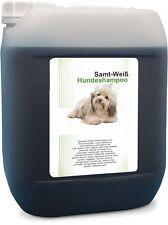 5 L Hundeshampoo Samt Weiß - Shampoo für weißes Hundefell - parabenfrei