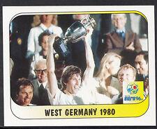 Merlin Football Sticker - UEFA Euro 1996 - No 252 - West Germany 1980