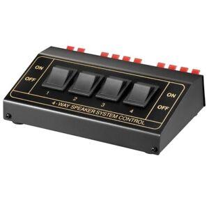 Lautsprecher Umschaltbox Umschalter Verteiler Splitter Switch für 8 Boxen 4 fach