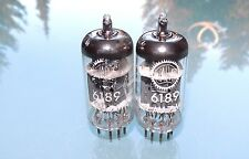 Pair Mazda 6189 / 12AU7WA / E82CC Philips France NOS matched rare tubes