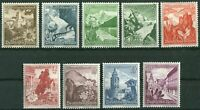 Deutsches Reich DR Nr. 675 - 683 ** sauber postfrisch Winterhilfswerk 1938 MNH