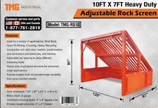 New Tmg 10' x 7' Heavy Duty Adjustable Rock Screen / Soil Sifter / Rock Sifter