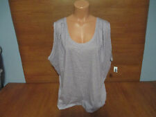 New Womens Size XL Old Navy Lilac Purple Tank Top Shirt Hi Lo Draped Stretch @@