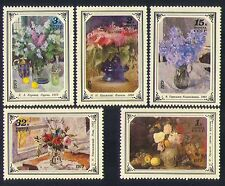 Russia 1979 Art/Painting/Flowers/Nature/Plants/Artists 5v set (n33536)