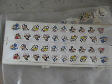 Unique Lot of 80 Vintage Plastic Punch Out Disney Characters LOOK